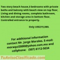 Beach House, Property location, in Las Lajas Beach, Republic of Panama.